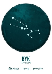 Znak zodiaku, byk - plakat wymiar do wyboru: 30x40 cm