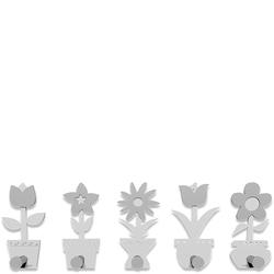 Wieszak ścienny Little Flowers CalleaDesign biały 13-003-1