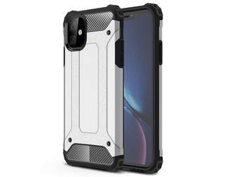 Etui alogy hard armor do apple iphone 11 srebrne - srebrny