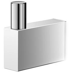 Duży, stalowy wieszak łazienkowy linea zack polerowany 40037
