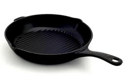 Żeliwna patelnia grillowa emaliowana chasseur 25cm czarna 3160-01