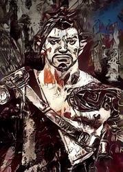 Legends of bedlam - hanzo, overwatch - plakat wymiar do wyboru: 70x100 cm