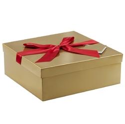 Pudełko na prezent złote xxl 30,5 x 30,5 x 11 cm