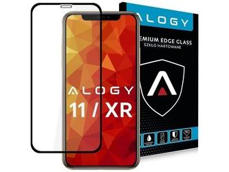 Szkło alogy full glue case friendly do apple iphone 11 xr czarne