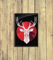 Deer - plakat a3