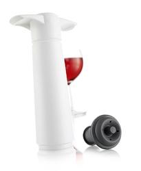 Pompka próżniowa do wina z korkiem Wine Saver biała