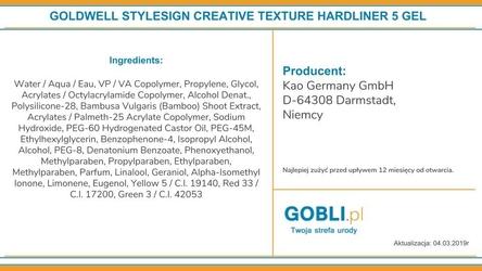 Goldwell hardliner, ultramocny żel nabłyszczający, dodatkowo chroni kolor 140ml