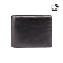 Klasyczny czarny portfel męski visconti mz-4 rfid