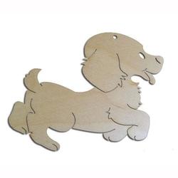 Drewniana dekoracja do zdobienia - pies - PIES