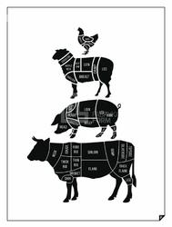 Plakat Meat Cuts ed. spring 2016 21 x 30 cm