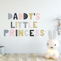 Naklejka na ścianę - daddys little princess , wymiary naklejki - szer. 80cm x wys. 50cm