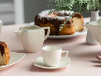 Filiżanka do espresso ze spodkiem porcelana karolina hiruni 100 ml
