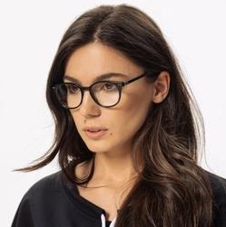 Okulary oprawki zerówki korekcyjne lenonki czarne stylion stac-32