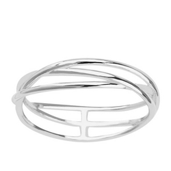 Staviori pierścionek nowoczesny kształt. srebro 0,925.
