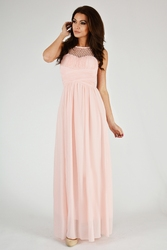 Evalola sukienka - pudrowy róż 9709-5