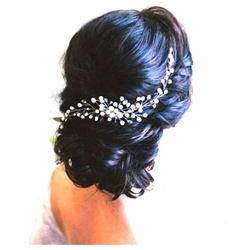 Ozdoba ślubna do włosów grzebyk perły kryształki