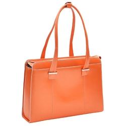 Skórzana torba damska na laptopa 15,4 orange mcklein alexis 96540 - pomarańczowy