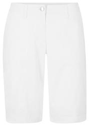 Bermudy ze stretchem bonprix biały