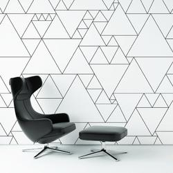 Tapeta na ścianę - triangular idea , rodzaj - tapeta flizelinowa laminowana