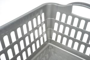 Plast team kosz na pranie 45 l srebrny
