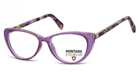 Oprawki korekcyjne kocie zerówki montana ma57d jasno-purpurowe
