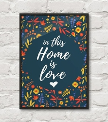 In this home is love - plakat