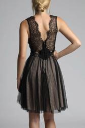 Soky soka  sukienka czarny-beż 600017-1
