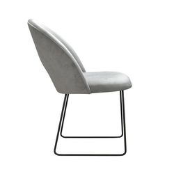 Nowoczesne krzesło tapicerowane giana u na metalowych nogach