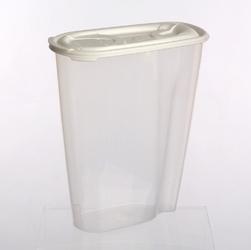 Pojemnik na przyprawy i artykuły sypkie: mąkę, płatki lub makaron tontarelli nuvola dispenser 2 l biały