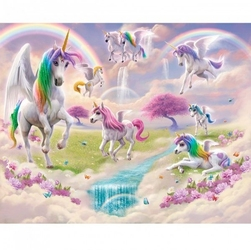Tapeta 3d unicorn jednorożce