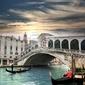 Fototapeta wenecja z mostu rialto we włoszech