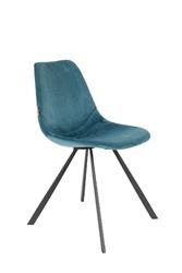 Dutchbone krzesło franky niebieskie 1100370