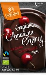 Landgarten | liofilizowane wiśnie amarena w gorzkiej czekoladzie | gluten free - organic - fairtrade