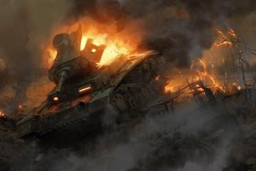 Fototapeta eksplozja czołgu 1139