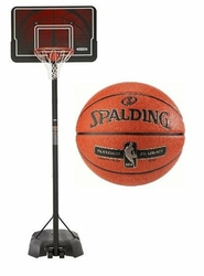 Zestaw do koszykówki kosz NBA Lifetime Memphis + Piłka do koszykówki Spalding Platinum ZK Legacy Indoor