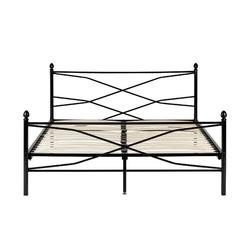 Łóżko metalowe christina 160x200 czarne