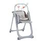 Chicco polly magic relax 3w1 dove grey krzesełko + kubek + talerzyk