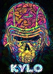 Psychoskulls, kylo ren, star wars gwiezdne wojny - plakat wymiar do wyboru: 60x80 cm
