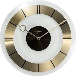 Zegar ścienny retro złoty