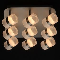 Metalowy plafon sufitowy led - 9 regulowanych punktów świetlnych demarkt techno 704011009