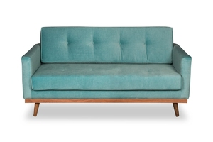 Sofa klematisar welurowa deluxe - welur łatwozmywalny surf