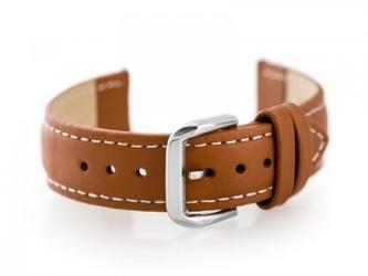 Pasek skórzany do zegarka w30 - w pudełku - camelbiałe - 18mm