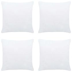 Vidaxl wkłady do poduszek, 4 szt., 40x40 cm, białe