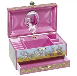 Szkatułka z szufladką księżniczka z jednorożcem pozytywka goki