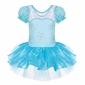 Błękitna sukienka dla dziewczynki, śnieżynka na bal, na balet, na karnawał