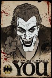 Batman arkham asylum joker needs you - plakat