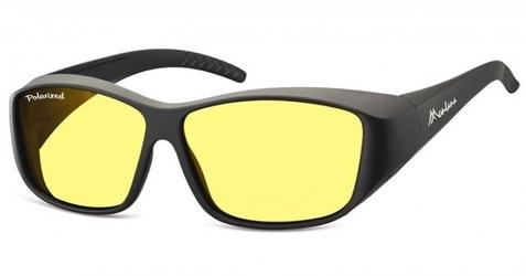 Żółte okulary z polaryzacją hd fit over dla kierowców, nakładane na korekcyjne fo4h