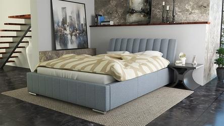 Łóżko nowoczesne tapicerowane tkaniną - duży wybór tkanin - 140 x 200 cm - bed 9