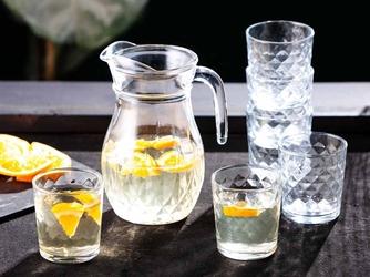 Zestaw do wody, soków i napojów altom design karo, dzbanek 1,2 l + 6 szklanek 240 ml