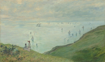Reprodukcja cliffs at pourville, claude monet